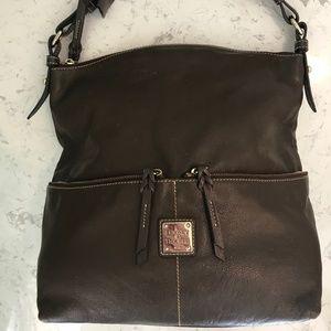 Dooney & Bourke brown leather Shoulder Bag
